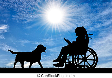 Conceptual image of the life of children with disabilities