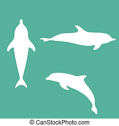 Silhouette of a dolphin