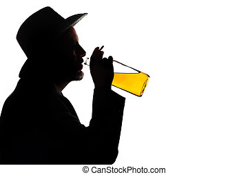 a drinking man