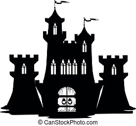 Silhouette of a fairy castle