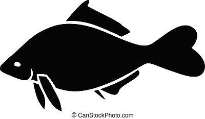 Silhouette of a fish icon