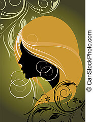 silhouette of a girl