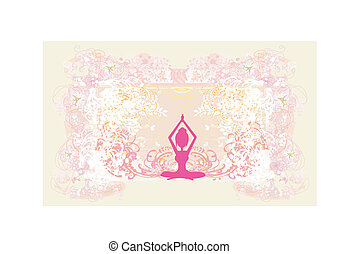 Silhouette of a Girl in Yoga pose