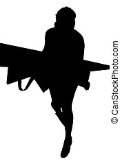Silhouette of a girl.