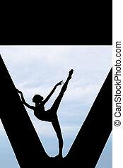 Silhouette of a graceful ballerina