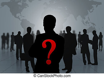 silhouette of a group of people