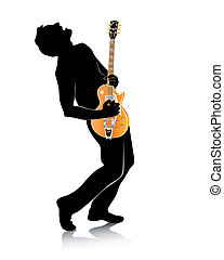 silhouette of a guitar