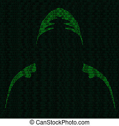 Silhouette of a hacker
