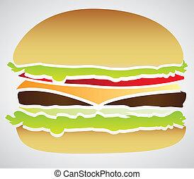 silhouette of a hamburger