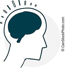 Silhouette of a head brain
