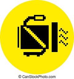 silhouette of a heat gun building equipment pixel icon
