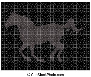 horse on the puzzle