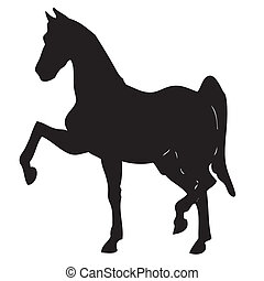 Silhouette of a horse1 - Vector illustration of a black...