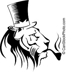 Silhouette of a lion's head. Symbol