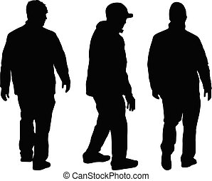 Silhouette of a man.