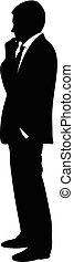 Silhouette of a man in a business suit
