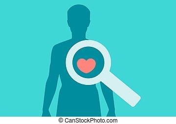 Medical checkup concept. Vector illustration
