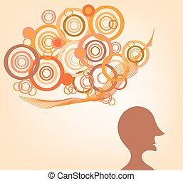 Silhouette of a man with ideas