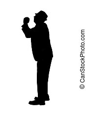 Silhouette of a Man with Pleading