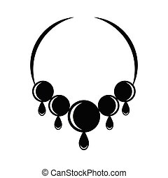 Silhouette of a necklace