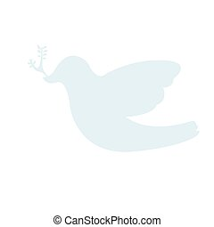 Silhouette of a pigeon