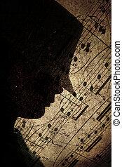 silhouette of a pop boy