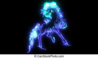 silhouette of a running horse animation