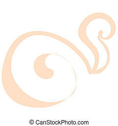 silhouette of a snail on a white background. vector