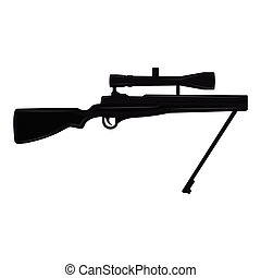 Silhouette of a sniper rifle