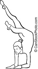 silhouette of a sportswoman doing silhouette of a sportswoman doing gymnastics