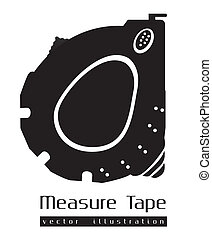 silhouette of a tape measure