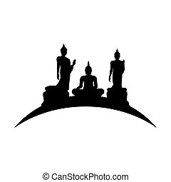 Silhouette of a Thai Buddha.