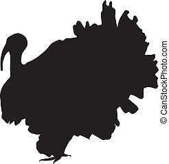 Silhouette of a turkey