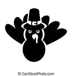 Silhouette of a turkey