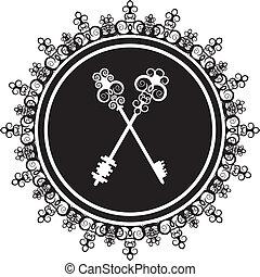 emblem with keys