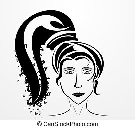 silhouette of a woman s face
