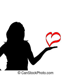 silhouette of a woman. Vector illustration