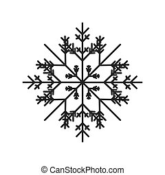 abstract snowflake icon
