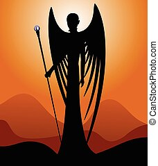 Silhouette of an angel.