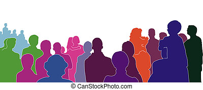 silhouette of an audience