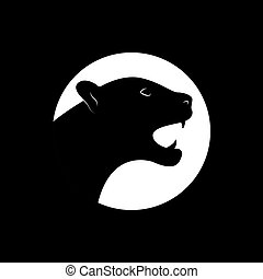 Silhouette of an black panther.