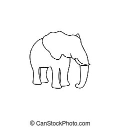 Silhouette of an elephant vector
