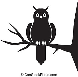 Silhouette of an owl