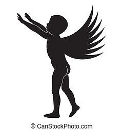 Silhouette of angel