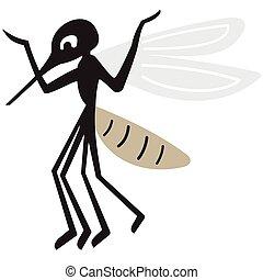 Silhouette of arrogant mosquito