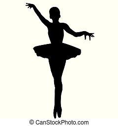 Silhouette of ballerina