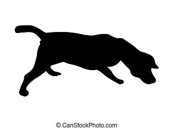 silhouette of Beagle Dog - Silhouette of Beagle Dog