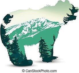 Silhouette of bear
