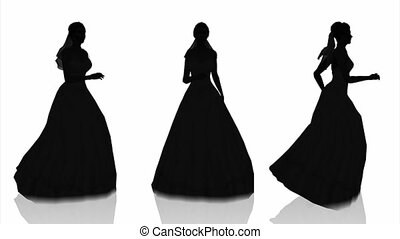 silhouette of bride