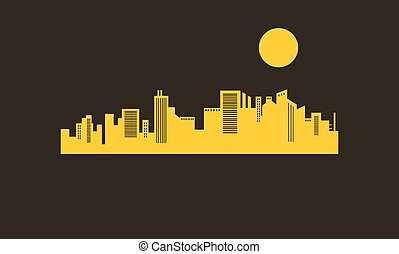 Silhouette of building and moon